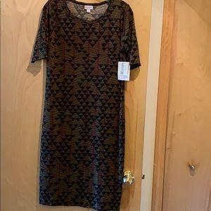NWT, LuLaRoe- Julia Multicolored 3/4 Sleeve Dress